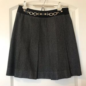 Etcetera Black & Gray Pleated Skirt